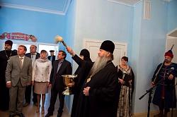 Митрополит Тихон освятил здание исторического музея р.п. Колывань